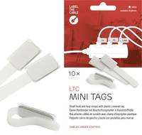 Tépőzáras kábelkötöző jelölővel, 90 x 20 mm, fehér, 10 db (2520) Label the Cable