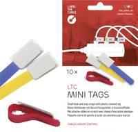 Tépőzáras kábelkötöző jelölővel, 90 x 20 mm, kék/sárga/piros, 10 db (2530) Label the Cable