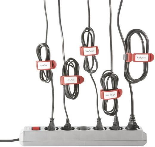 Tépőzáras kábelkötöző jelölővel, 210 x 16 mm, átlátszó, 5 db