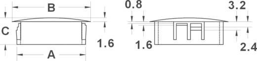 KSS Lyuk lezárás HPR8 Fekete (A x B x C) mm 7,9 x 10,3 x 8,0