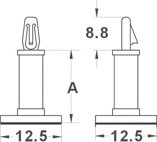 KSS Öntapadó panel tartó, MMR MMR8 (A) mm 7,9 poliamid