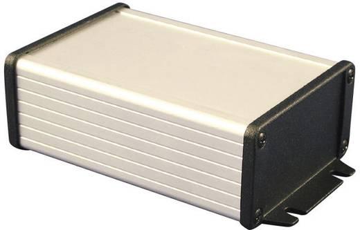 Hammond Electronics alumínium műszerdoboz öntvény fedéllel és peremmel 1457C802BK, 80 x 59 x 30.9 mm, fekete