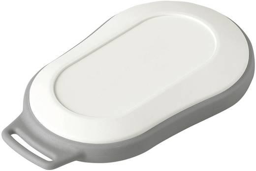 Kézi műszerdoboz, műanyag, szürke-, fehér 84 x 53 x 19 mm, OKW D9006207, 1 szett