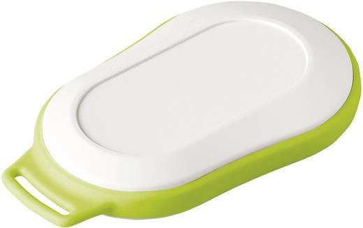 Kézi műszerdoboz, műanyag, szürke-, fehér, zöld 84 x 53 x 19 mm, OKW D9006227, 1 szett