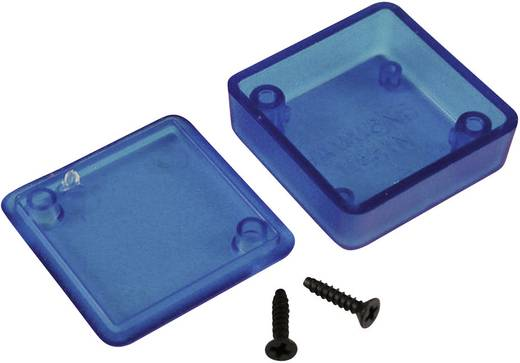 Univerzális műszerdoboz ABS, kék (áttetsző) 50 x 50 x 15 Hammond Electronics 1551STBU 1 db