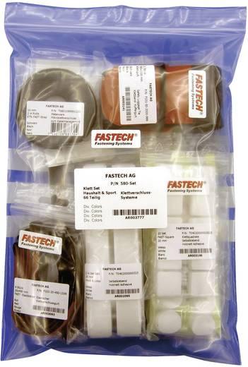 Tépőzáras kötöző készlet háztartásba és sporthoz, 64 részes, Fastech 580