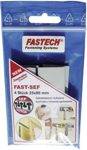Öntapadó erős tépőzár, 80 mm x 25 mm, fekete, Fastech 920-330 Bag, 4 db
