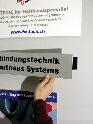 Öntapadó tépőzár szalag, 250 mm x 25 mm, fekete, Fastech 921-330 Bag