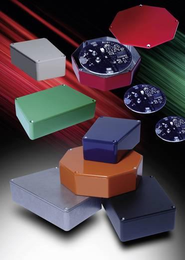 Hammond Electronics présöntött doboz, trapéz formájú 1590TRPBLG présöntött, 112 x 78,96 x 39,2 mm, fényes szürke
