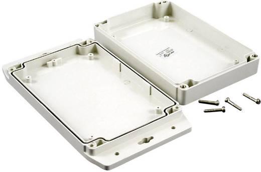 Hammond Electronics műanyag doboz, vízálló, 1555 1555H2F17GY polikarbonát, 180 x 120,79 x 37,2 mm, fényes szürke