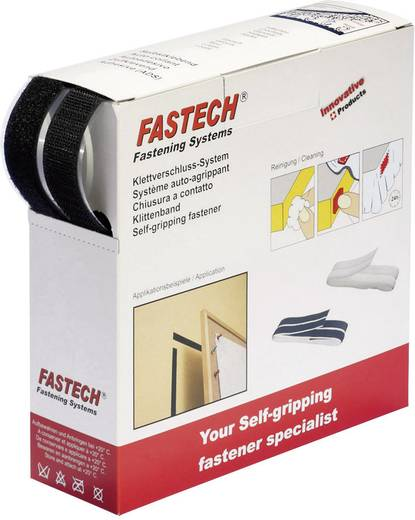 Tépőzár adagoló dobozban, 5 m x 20 mm, fehér, Fastech B20 SKL00005