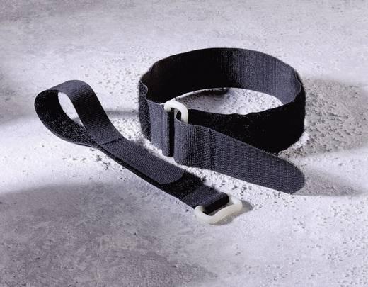 Gumis tépőzár 400 x 30 mm, fekete, 1 db, Fastech
