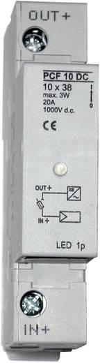 PV biztosítésktartó, 2 pólusú 1000V, LED