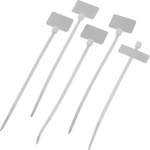Feliratozható kábelkötöző, 100x2,5 mm, natúr, 100db