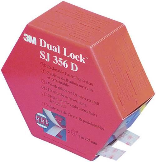 Öntapadó tépőzár, 5 m x 25 mm, átlátszó, 3M SJ 356D