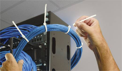Kézzel törhető, időjárásálló kábelkötegelő készlet 282 x 4,7 mm, fekete (UV álló), 50 db, ABB DK-510BK