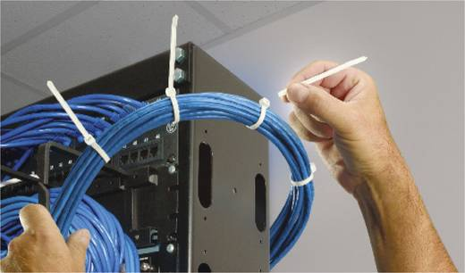Thomas & Betts Twist Tail kábelkötöző, letéphető végű, 358x4,7mm, fekete, 50 db, TT-14-30-0-L-EU