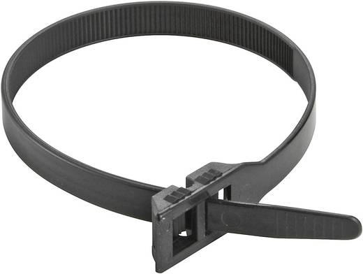 Duplafejű kábelkötegelő 375 x 9 mm, fekete, 1 db, PB Fastener 6503