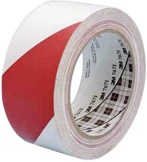 PVC jelölő ragasztószalag (H x Sz) 33 m x 50 mm, piros, fehér PVC 767i 3M, tartalom: 1 tekercs