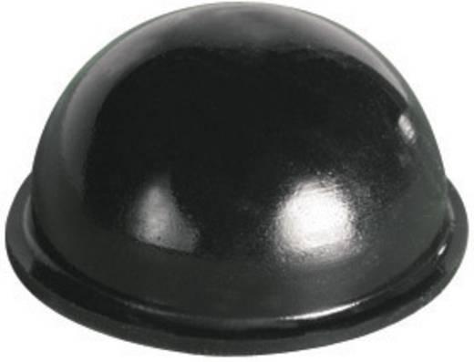 Pb öntapadós műszerláb Ø17,8 x 9,6 mm, fekete, 7 db, BS-08-BK-R-7