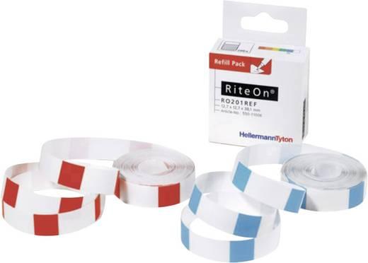 RiteOn® utántöltő csomag Etikettek ívenként: 100 RO203REF-100-WH; Fehér HellermannTyton Tartalom: 1 tekercs