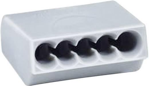 Vezetékösszekötő 5 vezetékes, 0,5 - 1,5 mm² 17,5A, szürke, 1 db, HellermannTyton 148-90015