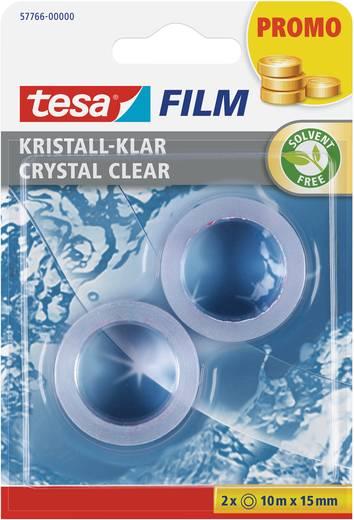 Ragasztószalag, átlátszó, 2 x 10 m x 15 mm, TESA TESAFILM®