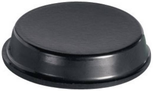 Pb öntapadós műszerláb Ø19,1 x 4,1 mm, fekete, 7 db, BS-44-BK-R-7