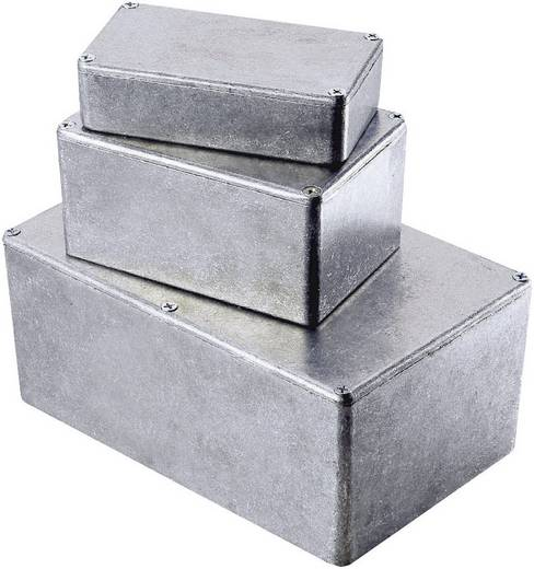 Hammond Electronics alumínium présnyomással készült doboz 1590KBK, 125 x 125 x 79 mm, fekete