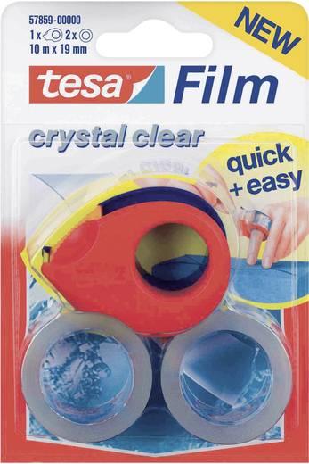 Ragasztószalag, átlátszó, 2 db + ragasztószalag tekercselő, TESA TESAFILM®