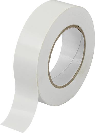 PVC szigetelőszalag (H x Sz) 10 m x 19 mm, fehér PVC SW10-155 Tru Components, tartalom: 1 tekercs