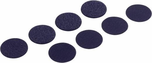 Tépőzáras pontok, (Ø) 47, fekete, 4 pár