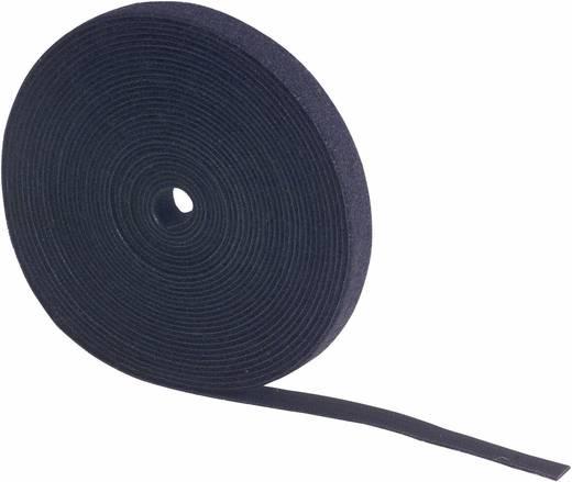 Tépőzár szalag bolyhos és horgos fél, 5 m x 50 mm, fekete, Fastech 699-330 Bag