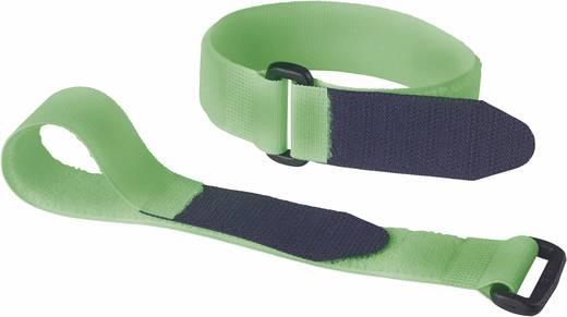 Tépőzáras biztonsági pánt, 290 mm x 25 mm, zöld/fekete, 2 db