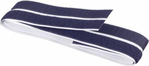 Tépőzár felragasztáshoz, bolyhos és horgos fél (H x Sz) 1000 mm x 20 mm, fekete, 1 pár, Fastech 1 M