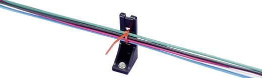 Kábelkötegelő tartó csavaros rögzítéssel, LCHR120BK Szín:, fekete 1 db KSS