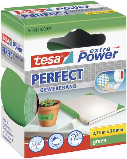 Szövetbetétes ragasztószalag, zöld, 2,75 m x 38 mm, tesa® extra Power