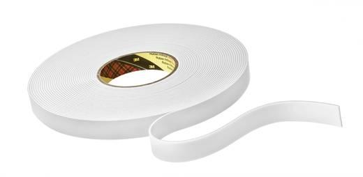 Kétoldalas ragasztószalag puha habosított szivaccsal (H x Sz) 33 m x 12 mm, fehér 9515W 3M, tartalom: 1 tekercs