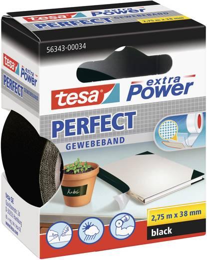 Szövetbetétes ragasztószalag, szövet, fekete, 2,75 mm x 38 mm, tesa® EXTRA POWER