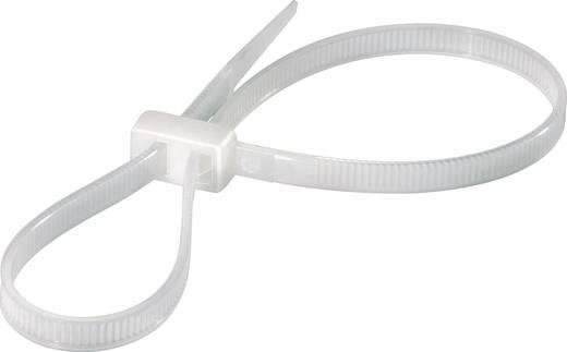 Kábelkötözők, kettős átvezetésű (H x Sz) 225 mm x 4.8 mm RDCV225 Natúr KSS