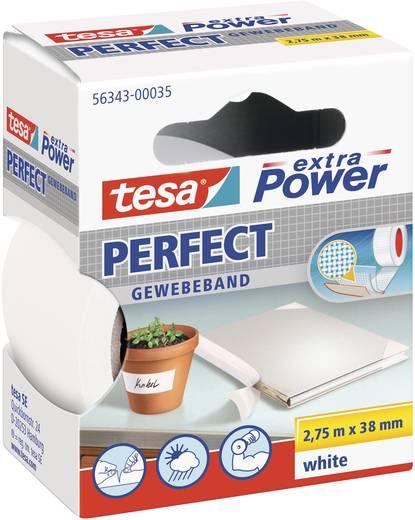 Szövetbetétes ragasztószalag, fehér, 2,75 m x 38 mm, tesa® extra Power
