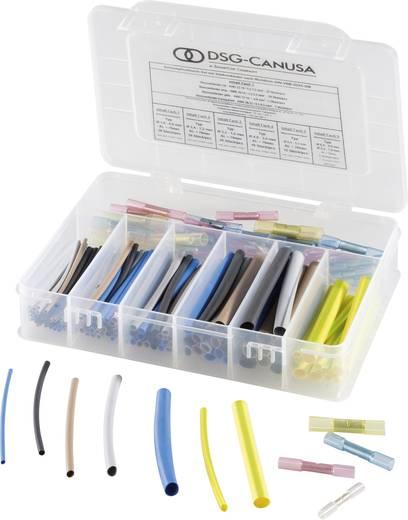 DERAY® 5000 zsugorcső készlet - 2:1, színes, összekötő darabokkal