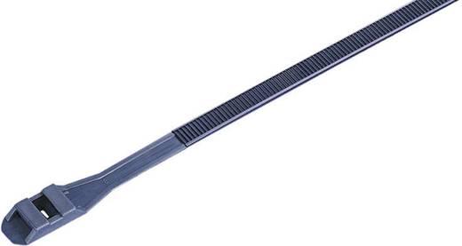 Kábelkötözők, kettős zárású (H x Sz) 360 mm x 9 mm DLR360BK Szín: Fekete 100 db KSS