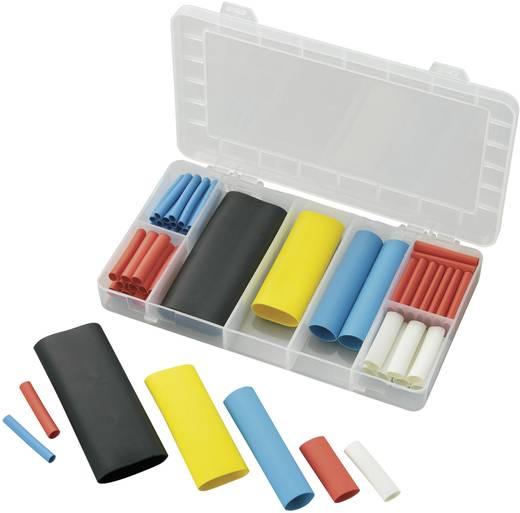 Zsugortömlő készlet, színes Tru Components Poliolefin, -50... +125 °C, Belső ragasztóval