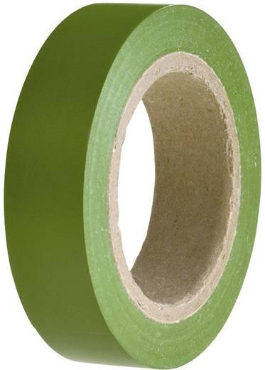 PVC szigetelőszalag, (H x Sz) 10 m x 15 mm, zöld PVC HelaTape Flex 15 HellermannTyton, tartalom: 1 tekercs