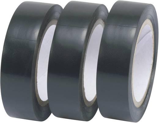 Szigetelőszalag, 3 db-os készlet (H x Sz) 10 m x 15 mm, fekete Conrad, tartalom: 3 tekercs