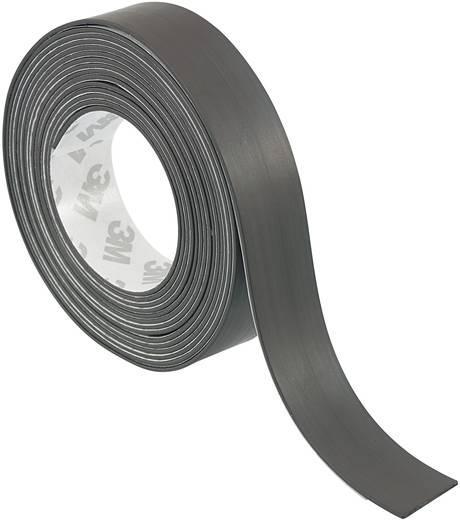 Mágneses ragasztószalag, öntapadó 1,8 m x 20 mm, fekete, Conrad S513-1820, 1 tekercs