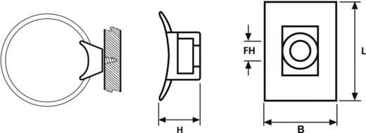 Rögzítő foglalat, csavarozható, LKC, KR, NY LKCSF1-N66-NA-C1 Átlátszó HellermannTyton Tartalom: 1 db