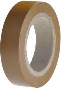 PVC szigetelőszalag, (H x Sz) 10 m x 15 mm, barna PVC HelaTape Flex 15 HellermannTyton, tartalom: 1 tekercs HellermannTyton