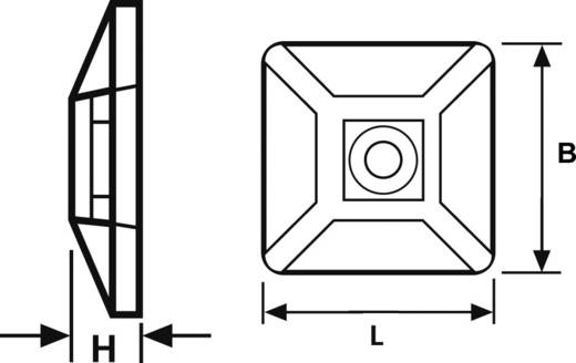 HellermannTyton csavarozható / öntapadós kábelrögzítő, natúr, TY MB4-N66-NA-C1